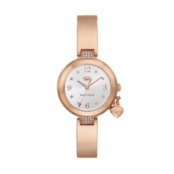 Juicy Couture Women's Sienna Crystal Stainless Steel Half Bangle Watch - 1901496