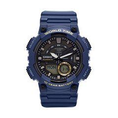 Casio Men's Telememo World Time Analog-Digital Watch - AEQ110W-2AVCF