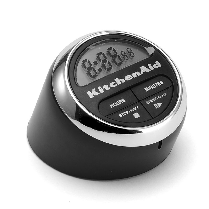 KitchenAid Digital Timer, Black Keep track of cooking and baking time with this efficient KitchenAid digital timer. Large display Push-button operation Plastic, stainless steel Wipe clean Manufacturer's lifetime limited warrantyFor warranty information please click here 7.25 H x 4.75 W x 4 D Model numbers: Black: KC150OHOBA Red: KC150OHERA Size: One Size.
