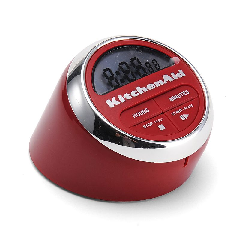 KitchenAid Digital Timer, Red Keep track of cooking and baking time with this efficient KitchenAid digital timer. Large display Push-button operation Plastic, stainless steel Wipe clean Manufacturer's lifetime limited warrantyFor warranty information please click here 7.25 H x 4.75 W x 4 D Model numbers: Black: KC150OHOBA Red: KC150OHERA Size: One Size.