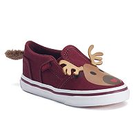 Vans Asher Toddler Girls' Reindeer Shoes