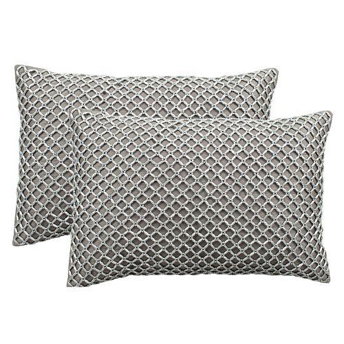 Safavieh Temy Beaded Throw Pillow 2-piece Set