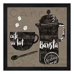 Metaverse Art Linen Coffee II Framed Wall Art