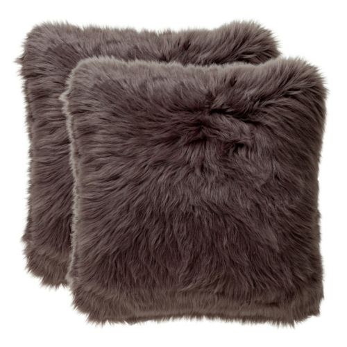 Safavieh Shadow Faux Fox Fur Throw Pillow 2-piece Set