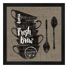 Metaverse Art Linen Coffee III Framed Wall Art