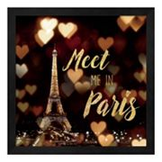 Metaverse Art 'Meet Me in Paris' Framed Wall Art