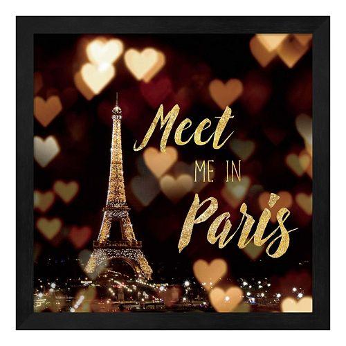 """Metaverse Art """"Meet Me in Paris"""" Framed Wall Art"""
