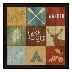 Metaverse Art 'Lake Life' Lake Lodge VII Framed Wall Art