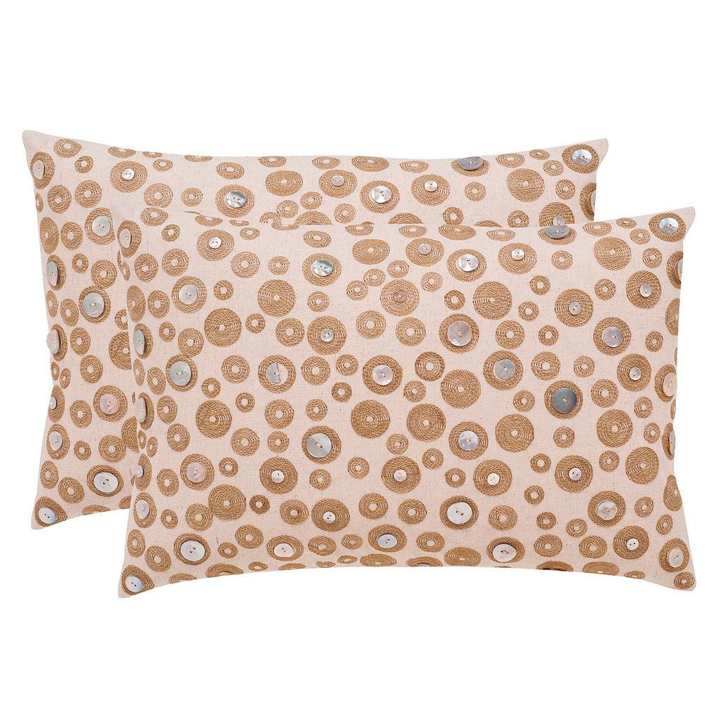 Safavieh Starlette Seashell Throw Pillow 2-piece Set
