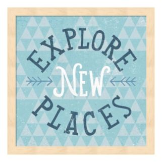 "Metaverse Art ""Explore New Places"" Wood Framed Wall Art"