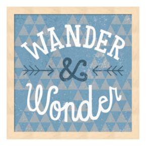 """Metaverse Art """"Wander & Wonder"""" Wood Framed Wall Art"""