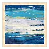Metaverse Art In Volo Sul Mare I Wood Framed Wall Art