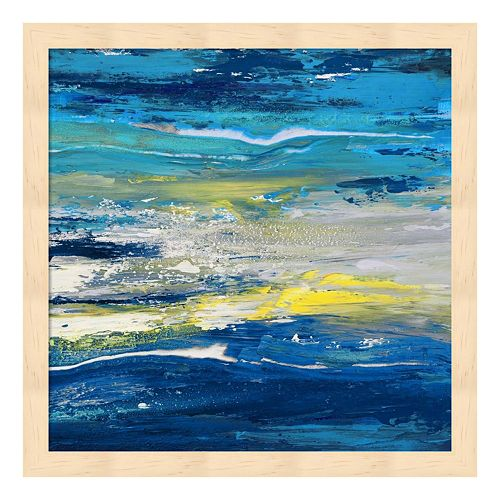 Metaverse Art In Volo Sul Mare II Wood Framed Wall Art