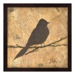 Metaverse Art Bird Silhouette I Framed Wall Art