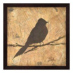 Metaverse Art Bird Silhouette I Framed Wall Art