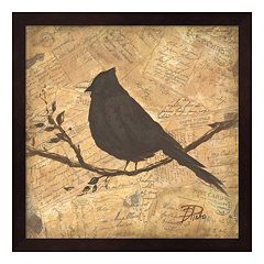 Metaverse Art Bird Silhouette II Framed Wall Art