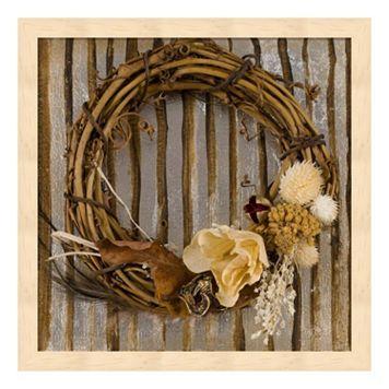 Metaverse Art Wreath I Wood Framed Wall Art