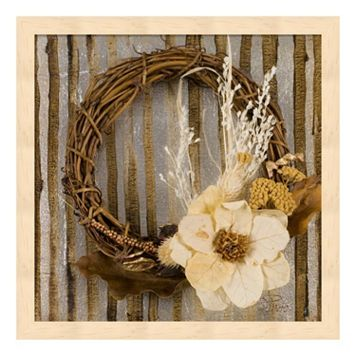 Metaverse Art Wreath II Wood Framed Wall Art