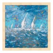Metaverse Art Sailing I Wood Framed Wall Art