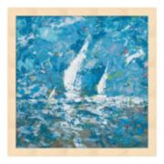 Metaverse Art Sailing II Wood Framed Wall Art
