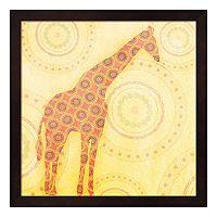 Metaverse Art Giraffe Framed Wall Art