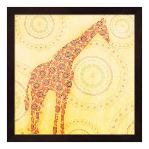 Metaverse Art Giraffe Framed Wall Art