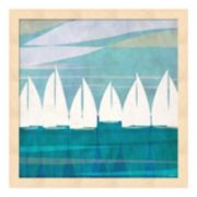 Metaverse Art Afternoon Regatta I Wood Framed Wall Art