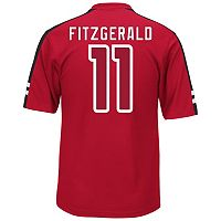 Men's Majestic Arizona Cardinals Larry Fitzgerald Hashmark Player Top