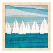 Metaverse Art Afternoon Regatta II Wood Framed Wall Art