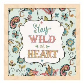 "Metaverse Art ""Stay Wild At Heart"" Wood Framed Wall Art"