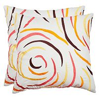 Safavieh Lollipop Indoor / Outdoor Throw Pillow 2-piece Set