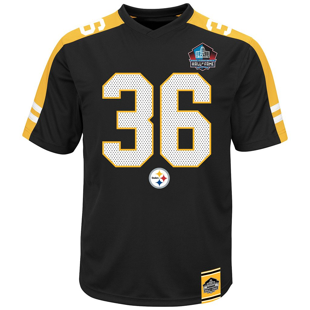 Men's Majestic Pittsburgh Steelers Jerome Bettis Hall of Fame Hashmark Player Top