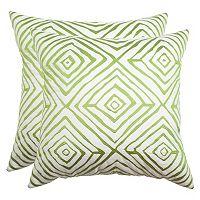 Safavieh Geometric Indoor / Outdoor Throw Pillow 2-piece Set