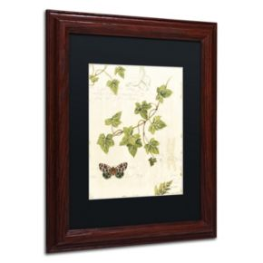 Trademark Fine Art Ivies and Ferns II Wood Finish Framed Wall Art
