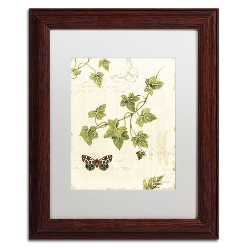 Trademark Fine Art Ivies and Ferns II Wood Finish Framed Wall Art