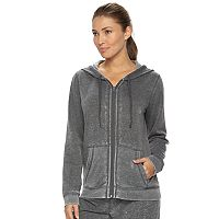Women's bliss Vintage Wash Zip Up Fleece Hoodie