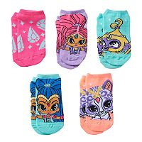 Girls 4-16 Shimmer & Shine, Tala & Nahal 5-pk. No-Show Socks