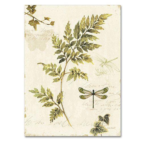 Trademark Fine Art Ivies and Ferns III Canvas Wall Art