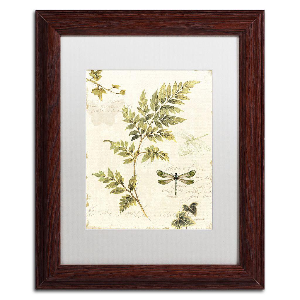 Trademark Fine Art Ivies and Ferns III Wood Finish Framed Wall Art