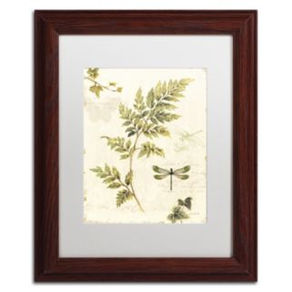 Trademark Fine Art Ivies and Ferns III Wood Finish Framed Wall Art