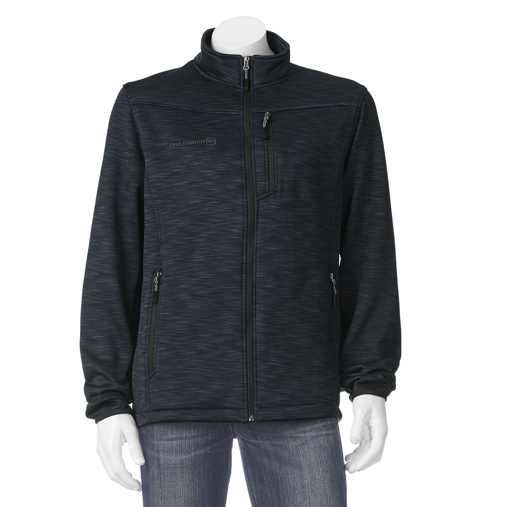 Men's Free Country Heathered Space-Dyed Track Jacket