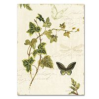 Trademark Fine Art Ivies and Ferns IV Canvas Wall Art