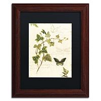 Trademark Fine Art Ivies and Ferns IV Wood Finish Framed Wall Art