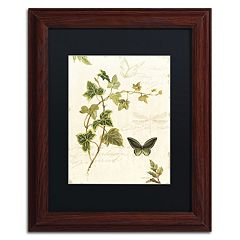 Trademark Fine Art Ivies and Ferns IV Wood Finish Framed Wall Art