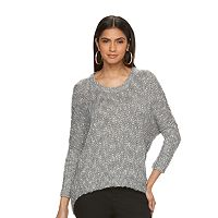 Women's Jennifer Lopez Marled Crewneck Sweater