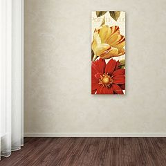 Trademark Fine Art Poesie Florale Panel II Canvas Wall Art