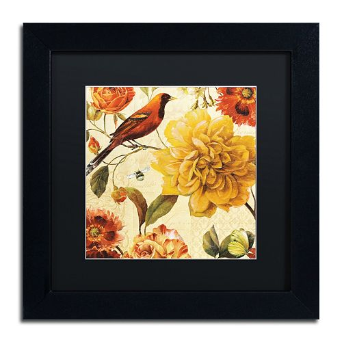 Trademark Fine Art Rainbow Garden Spice II Black Framed Wall Art
