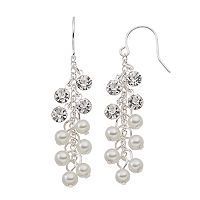 Croft & Barrow® Nickel Free Simulated Pearl Cluster Drop Earrings