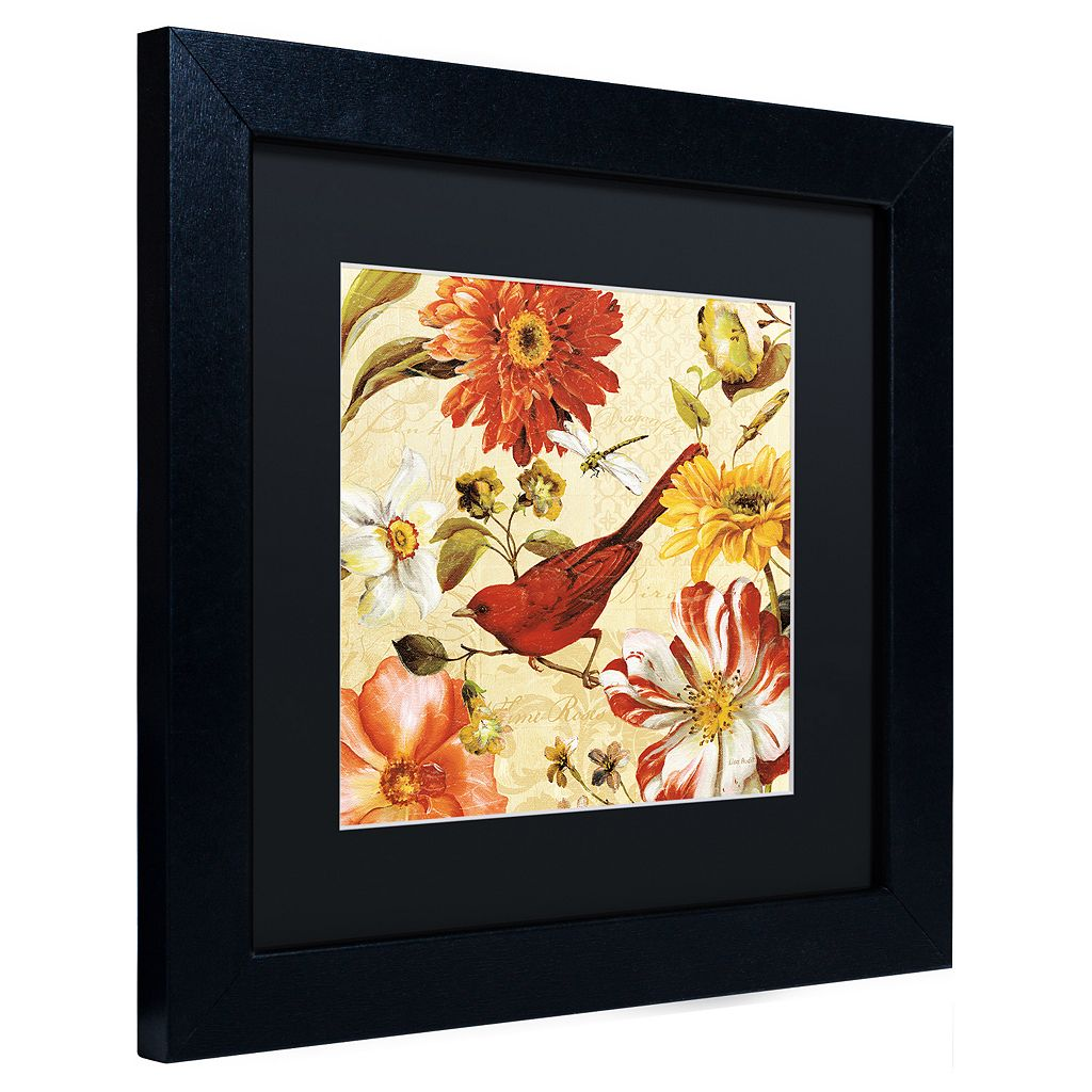 Trademark Fine Art Rainbow Garden Spice III Black Framed Wall Art
