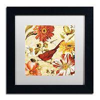 Trademark Fine Art Rainbow Garden Spice III Black Framed Wall Art
